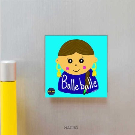 Balle Balle Fridge Magnet